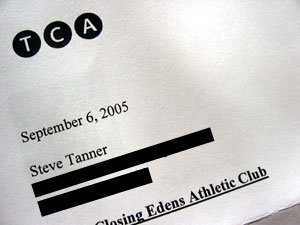 Letter from TCA