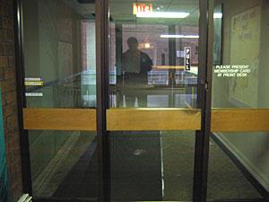 Entrance is dark